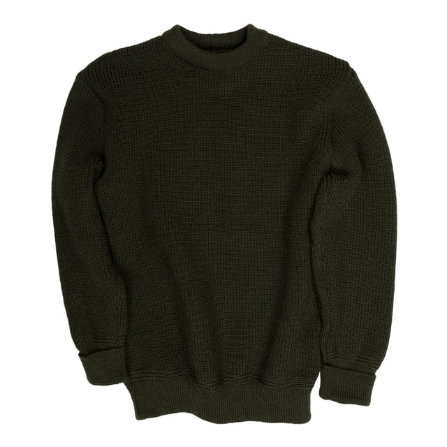 Heimat Crewneck Single Cuff in Military Green