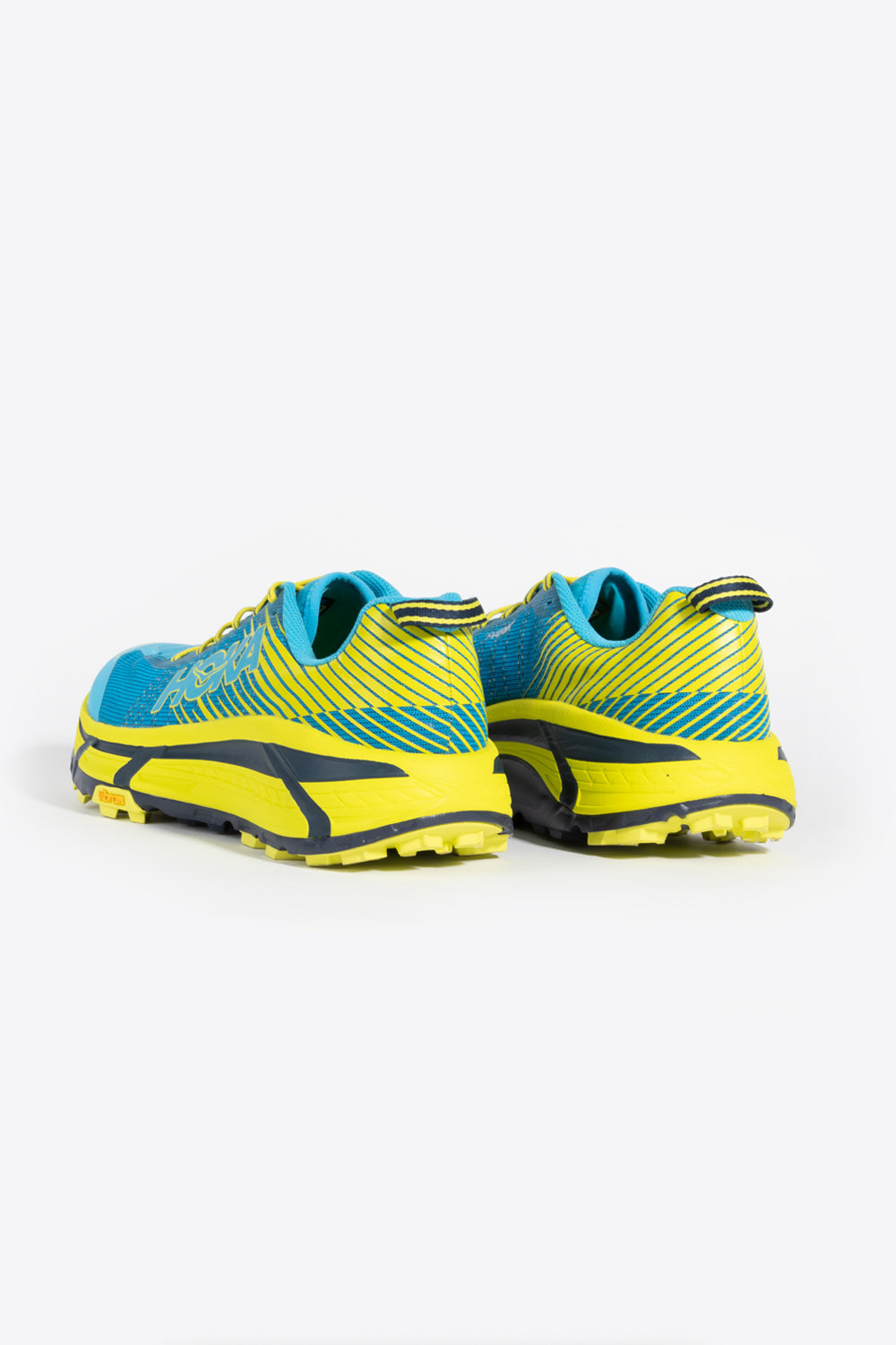 hoka one one evo mafate 2 shoe in cyan citrus