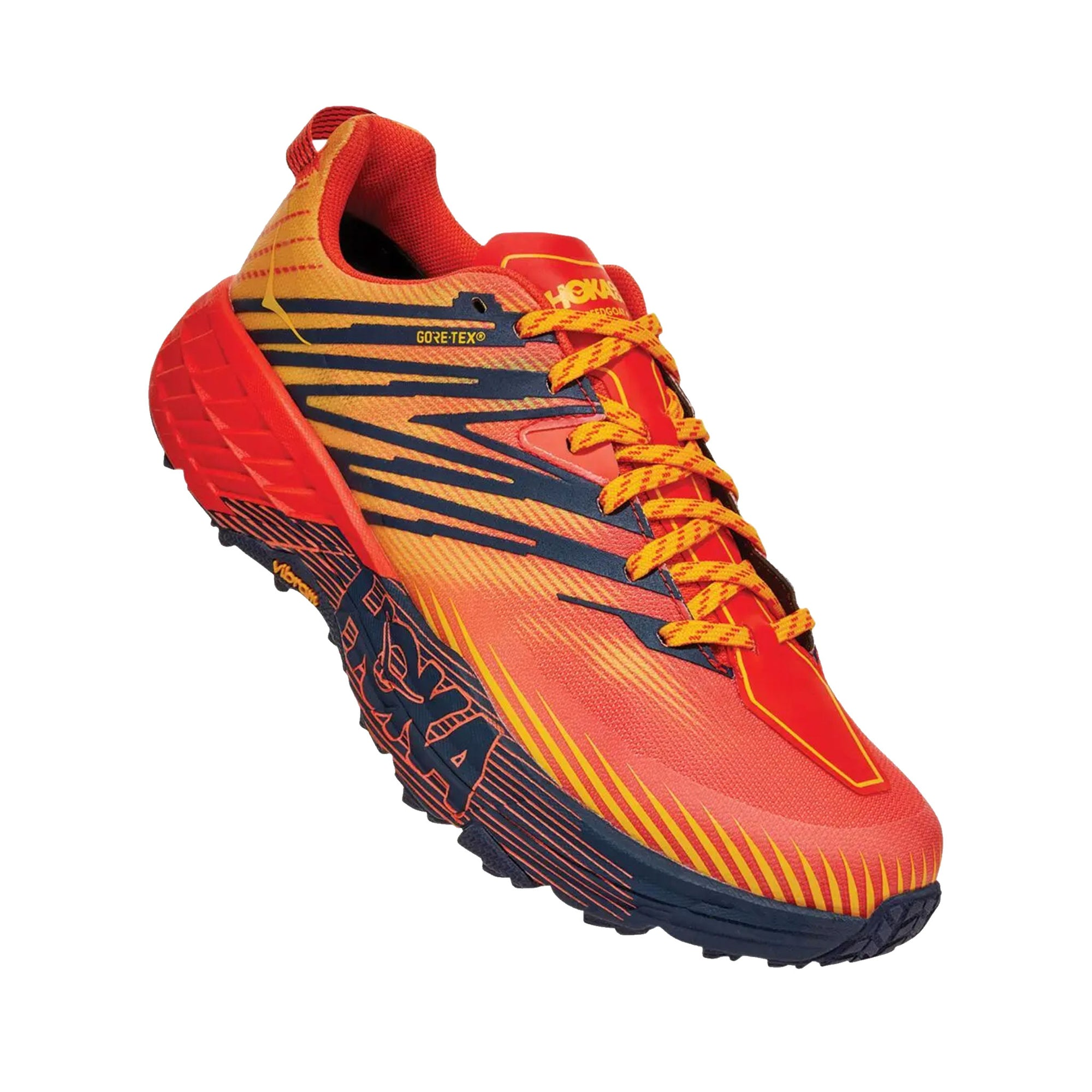hoka one one shoes online Speedgoat 4 Gore-Tex Mandarin Red Gold Fusion sneakers runners footwear