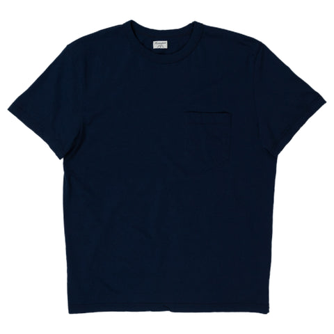 homespun dads pocket tee in indigo