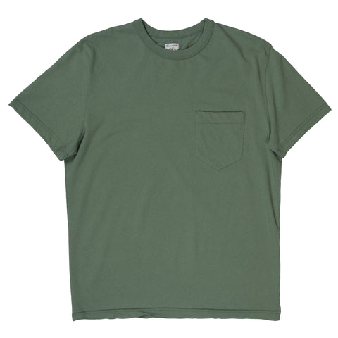 homespun dads pocket tee in pine