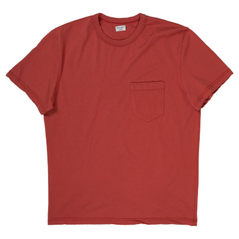 homespun dads pocket tee in red
