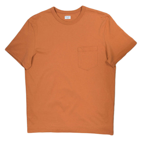 Homespun Dads Pocket Tee in Rust