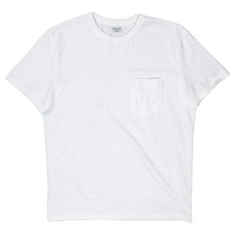 homespun dads pocket tee in white