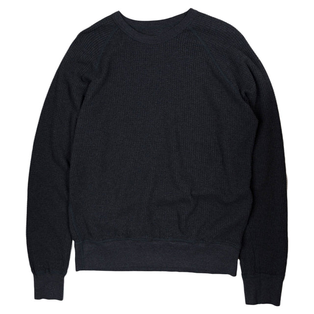 Homespun Fishermans Thermal Dual Waffle in Charcoal