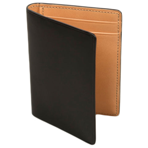 Il Bussetto Bi Fold Card Case in Black