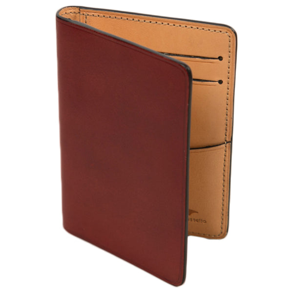 il bussetto bi fold card case in tibetan red