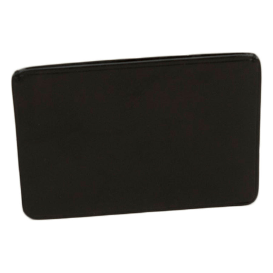 Card Holder in Coloured Leather - Black