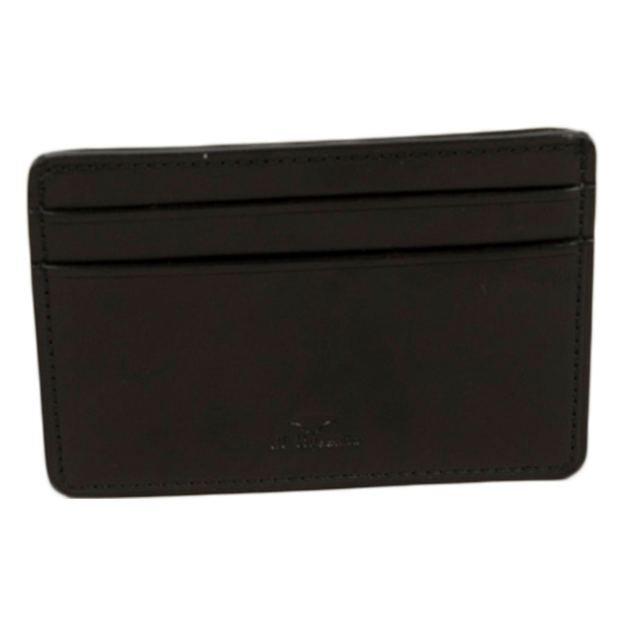 il bussetto card holder in coloured leather black