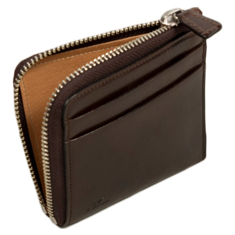 Small Zippy Wallet - Dark Brown