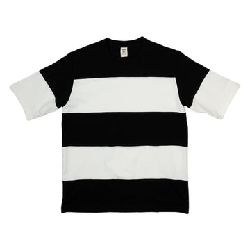 Jackman Border T-Shirt Double Stripe in Black and White