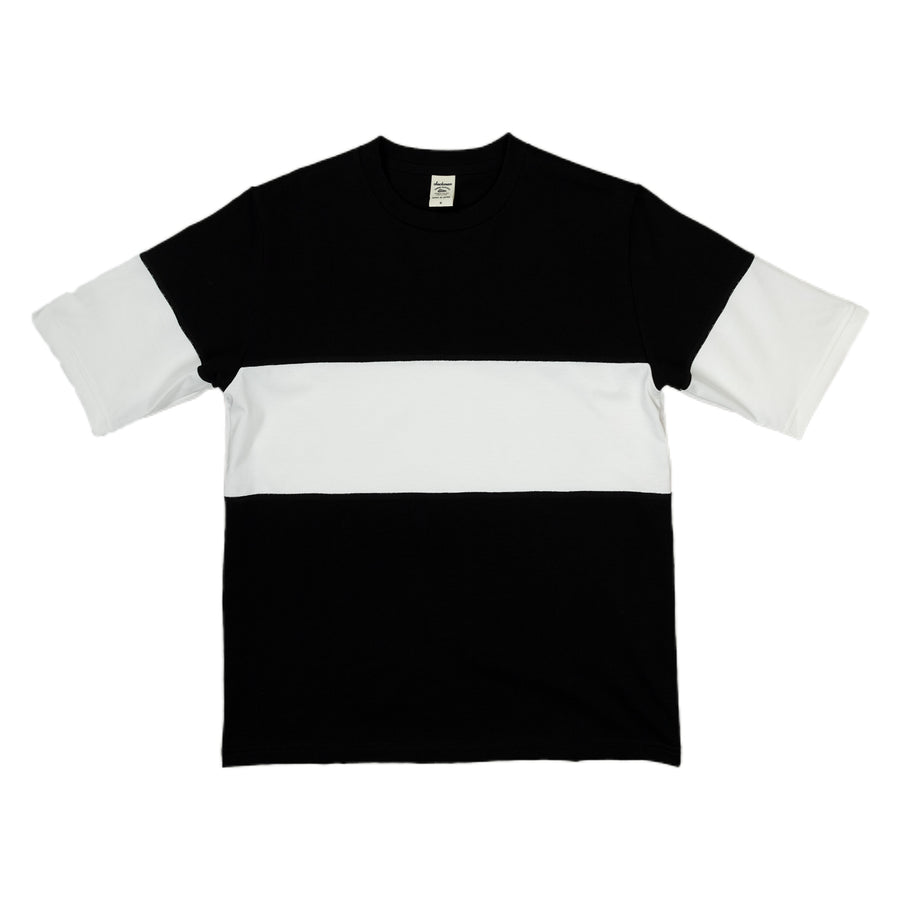 Jackman Border T-Shirt Single Stripe in Black and White