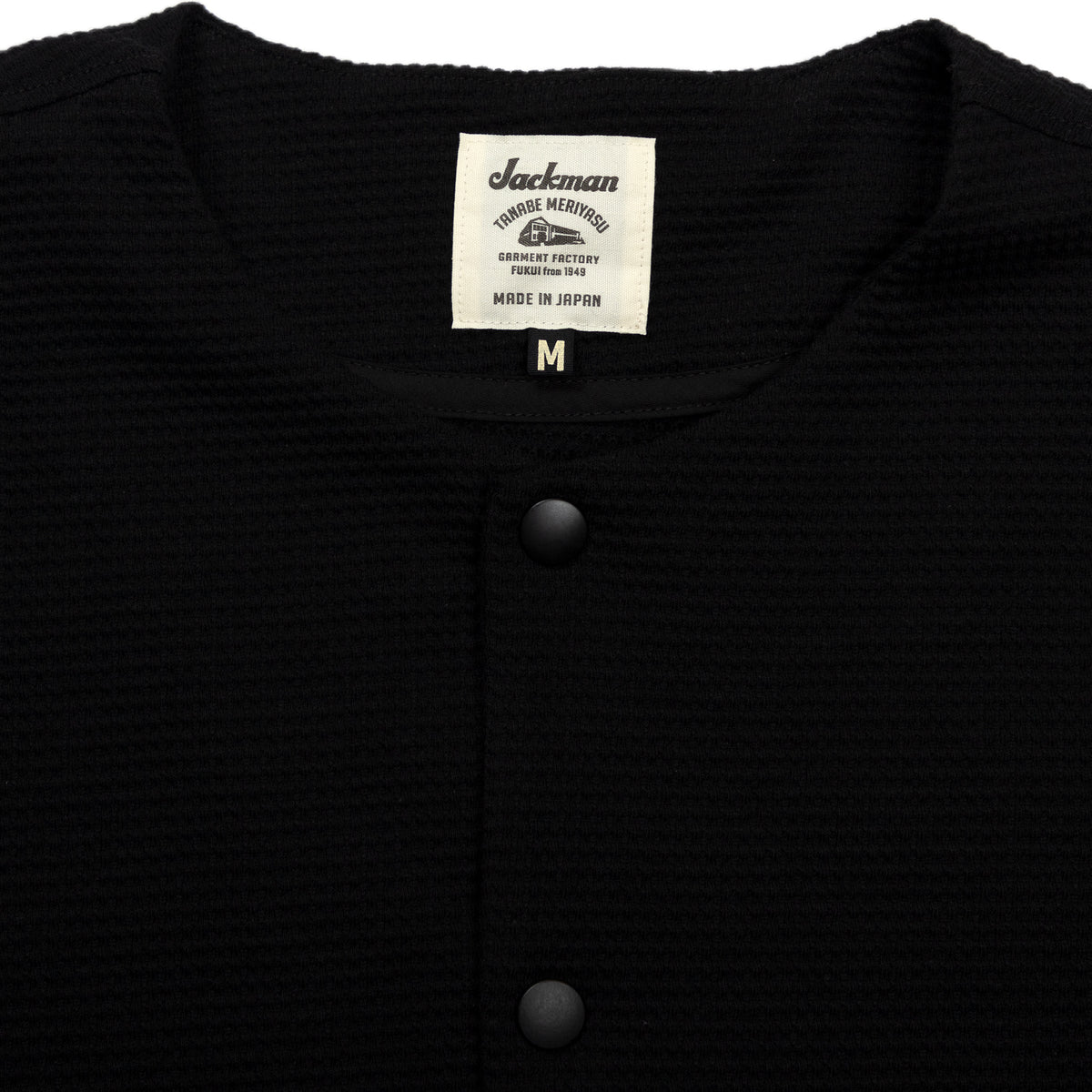 Collarless Jacket - Black