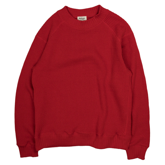 Waffle Midneck Jersey Red