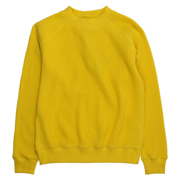 jackman waffle midneck knit sweater yellow corn