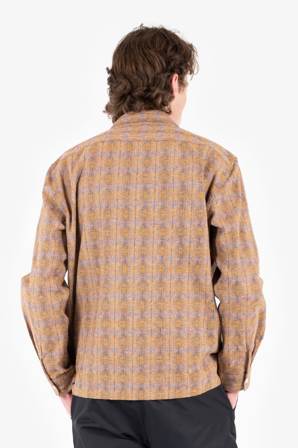 kestin tain shirt copper melange