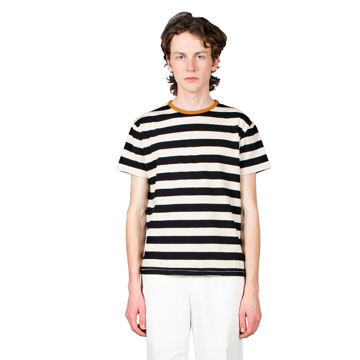 Mojave Tee Stripes - White / Black