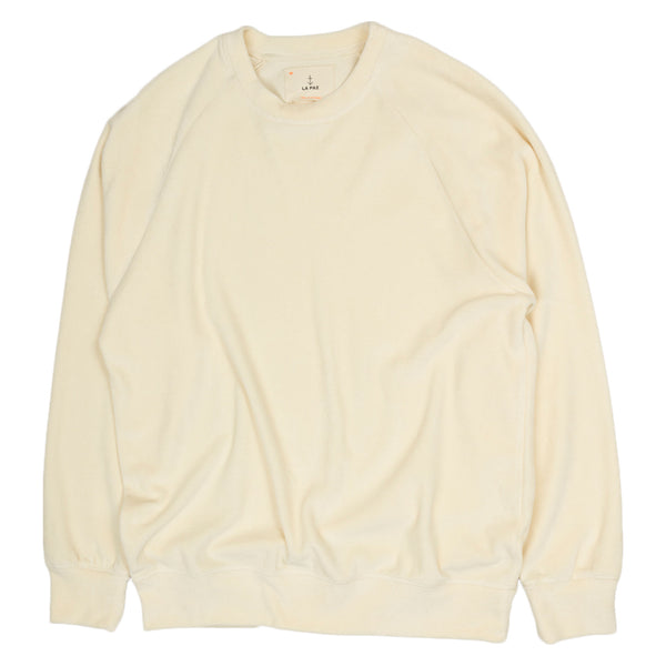 La Paz Cunha Sweatshirt in Off White Velour