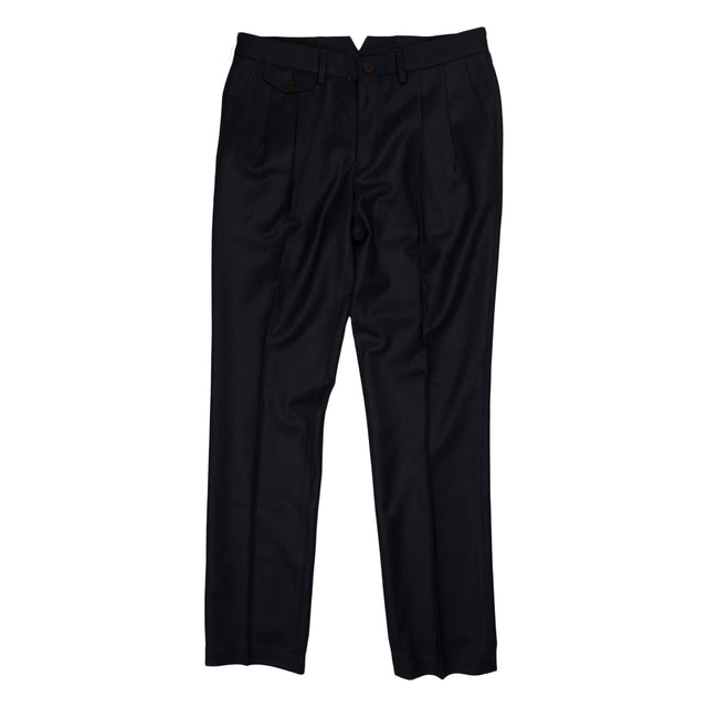 La Paz Palmas Pleaded Trousers in Navy
