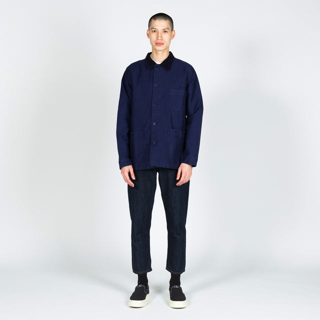 GQ Work Jacket Corduroy Collar - Blue