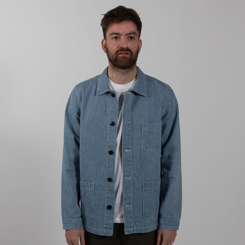Striped Denim Work Jacket