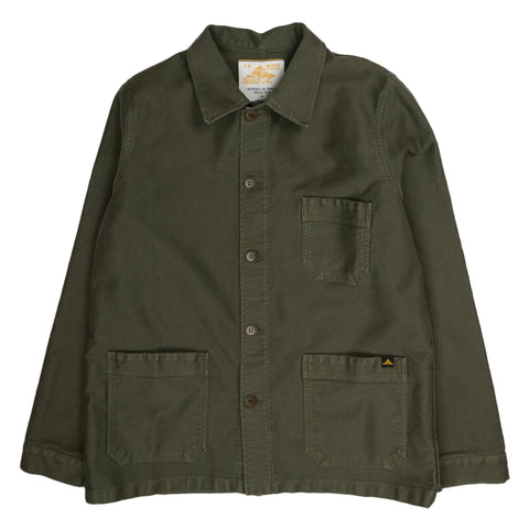 le mont saint michel genuine work jacket in khaki