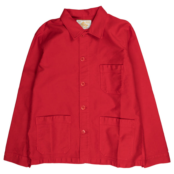 le mont saint michel genuine work jacket in red