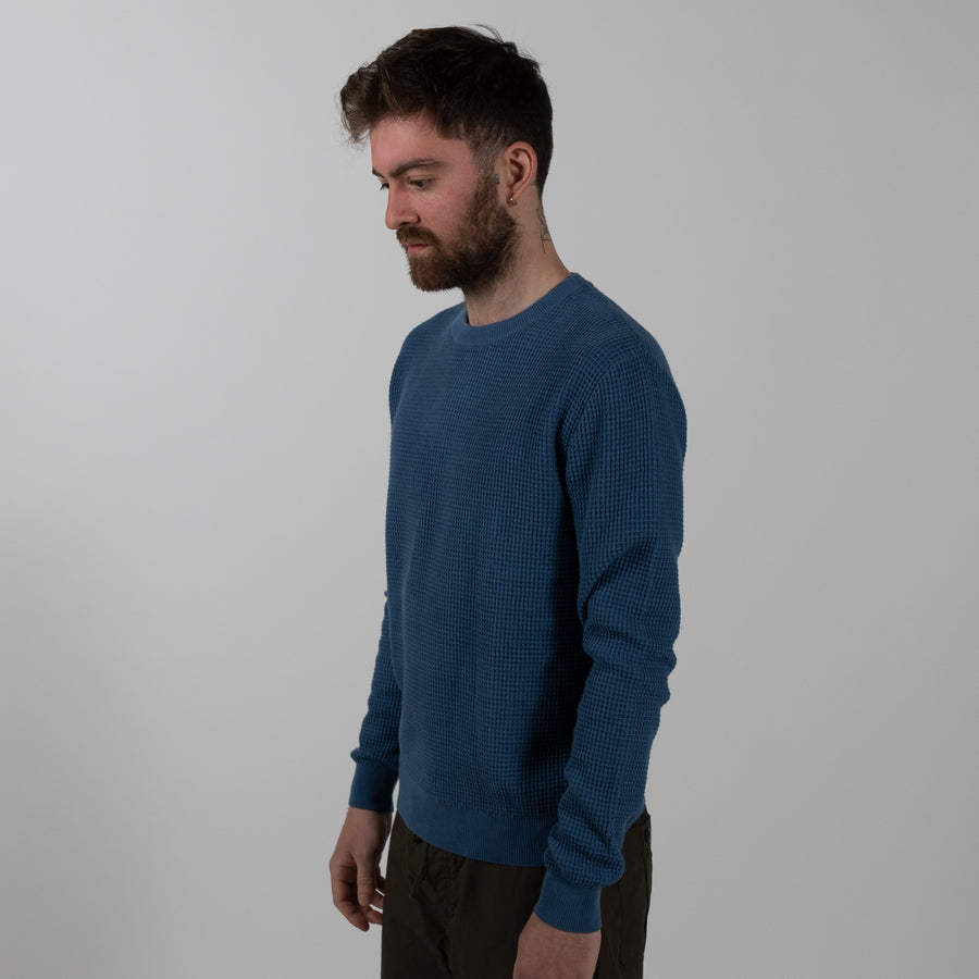 Graphic Knit Sweater - Indigo