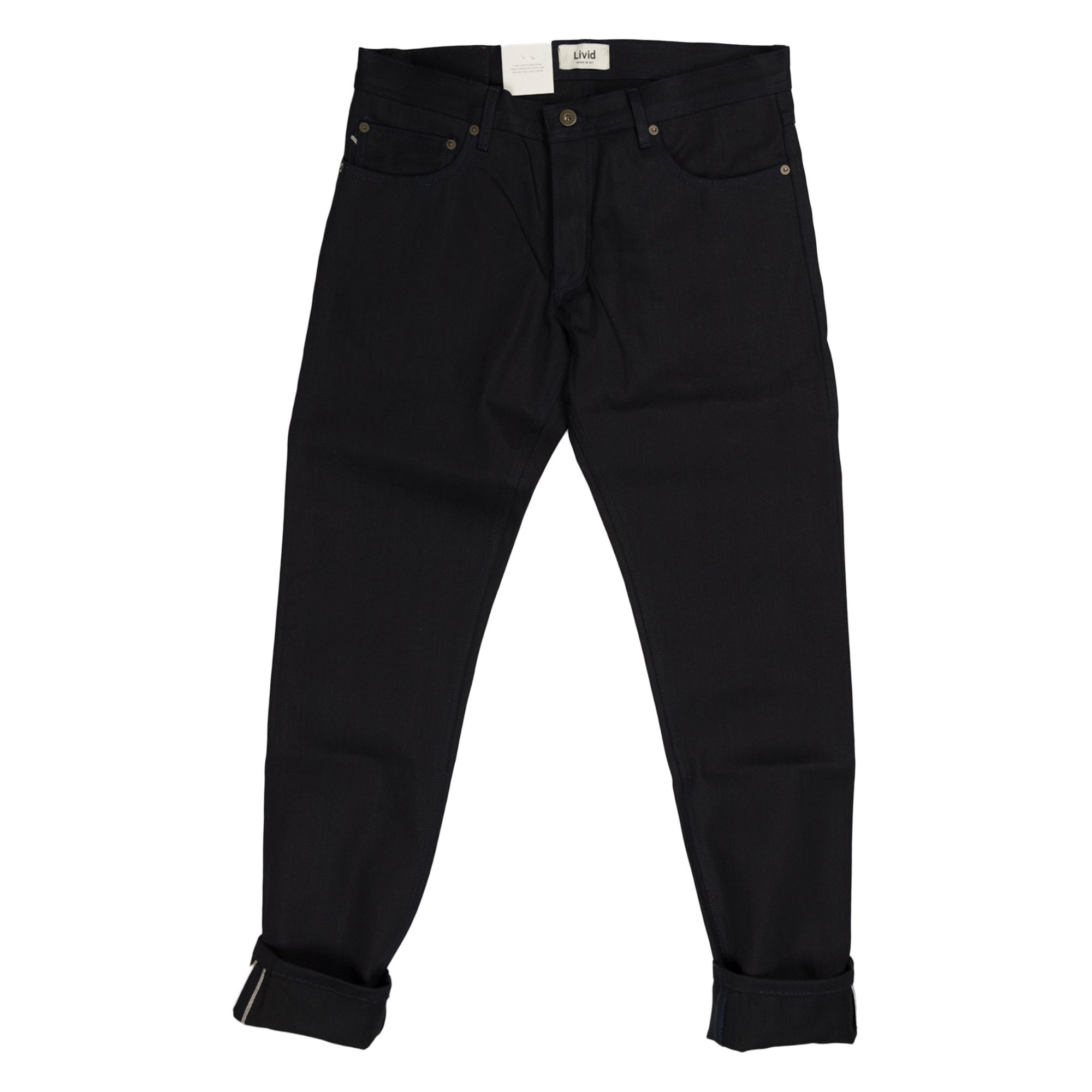 livid jone slim japan navy selvedge