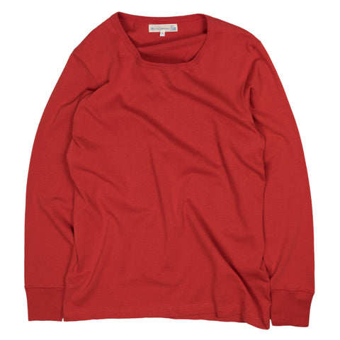 Merz b. Schwanen 212 Army Long Sleeve in Red