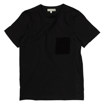 Merz b. Schwanen 215P Crewneck Tee Short Sleeve in Charcoal and Black