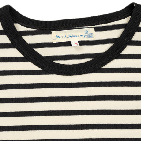 2M15 Crewneck Tee Striped Short Sleeve - Nature/Charcoal