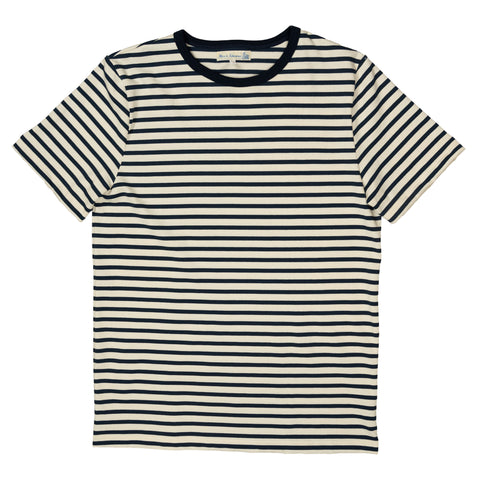 2M15 Crewneck Tee Striped Short Sleeve - Nature/Ink