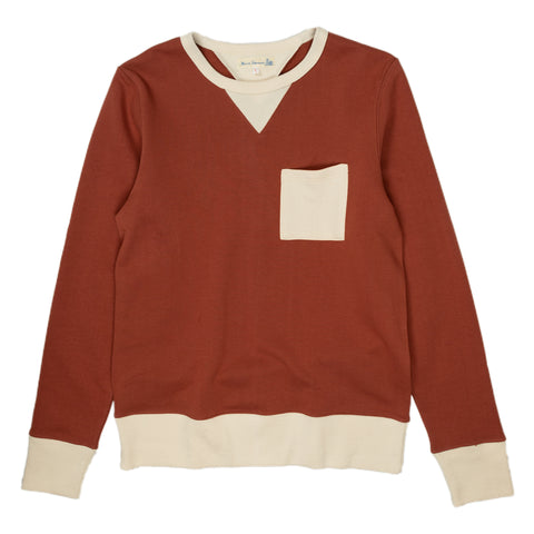Merz b. Schwanen 346P Pocket Sweatshirt in Nature and Copper