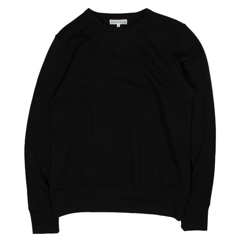 merz b. schwanen 346 crewneck sweatshirt in deep black