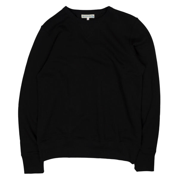 merz b schwanen 346 crewneck sweatshirt in deep black