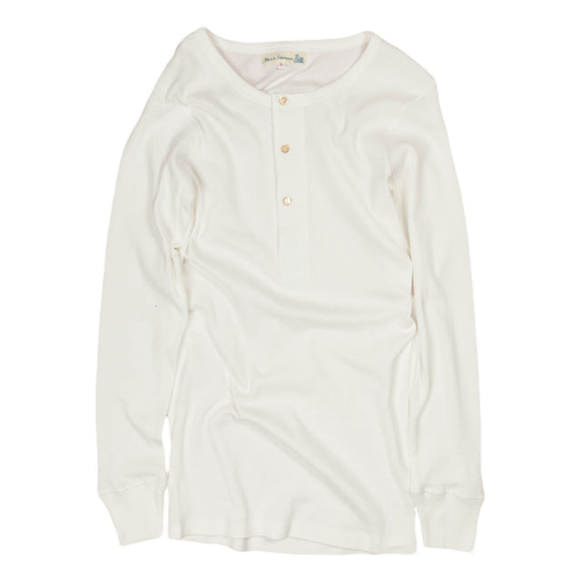 merz b schwanen ribbed ls henley in white