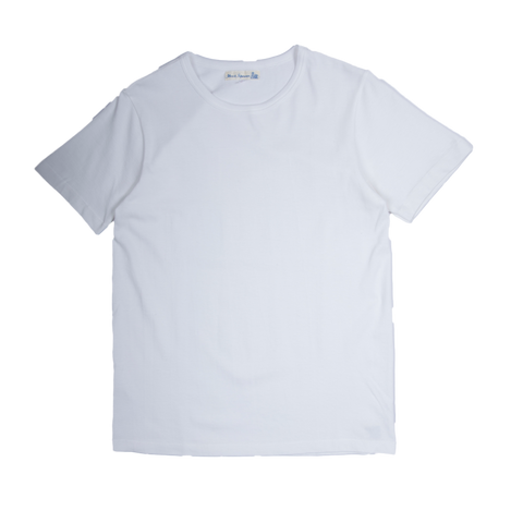 Organic Cotton Crewneck Tee - White