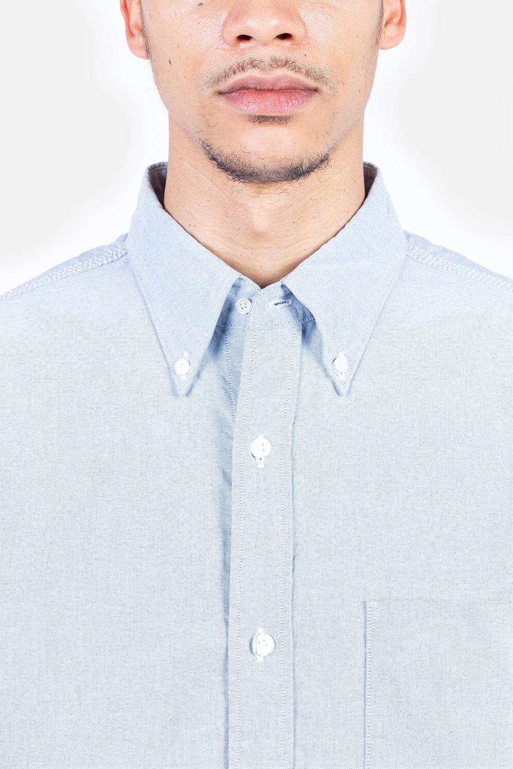Nanamica Button Down Wind Shirt in Blue