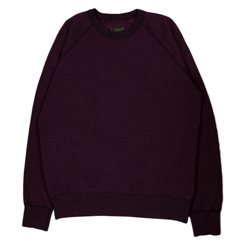Raglan Warm-Up 11 oz Mock Twist Fleece - Wine