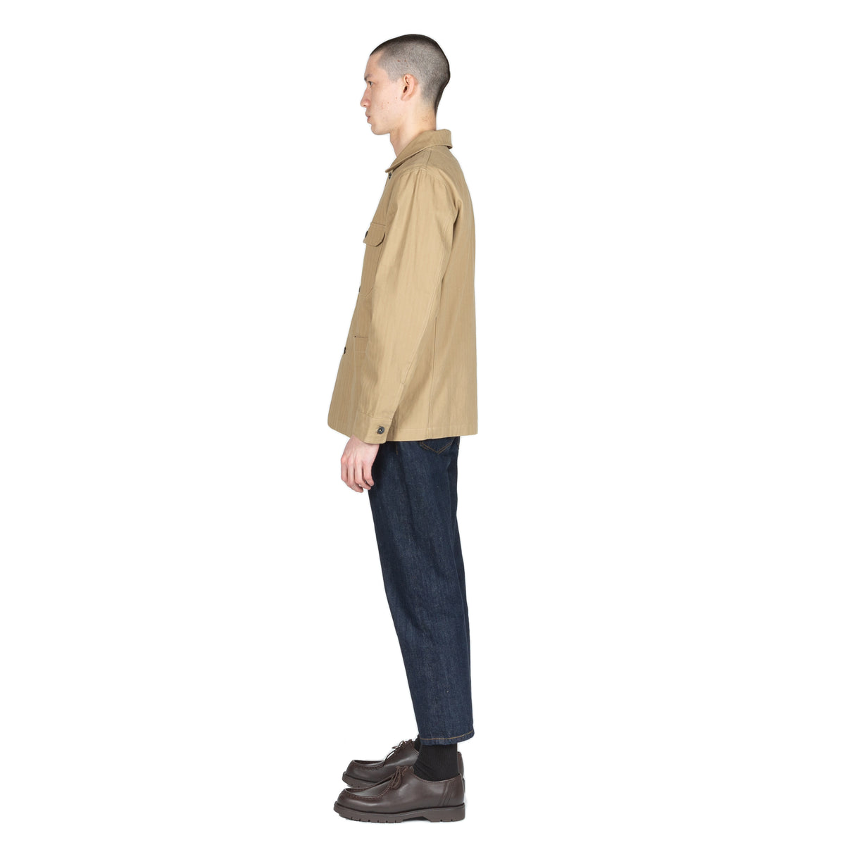 Native North Herringbone Utility Jacket Outerwear Khaki