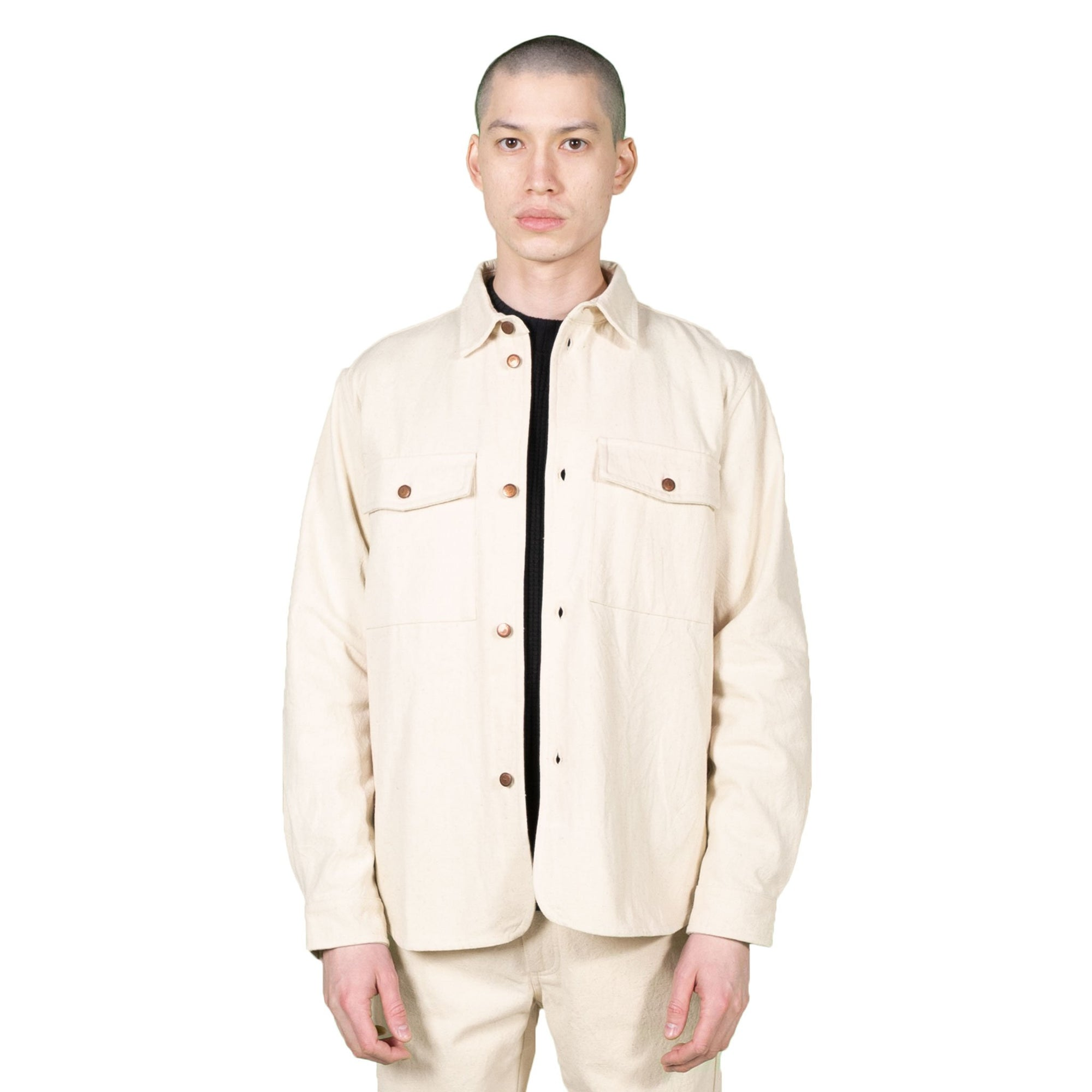 Native North Salt and Pepper Overshirt in Sand
