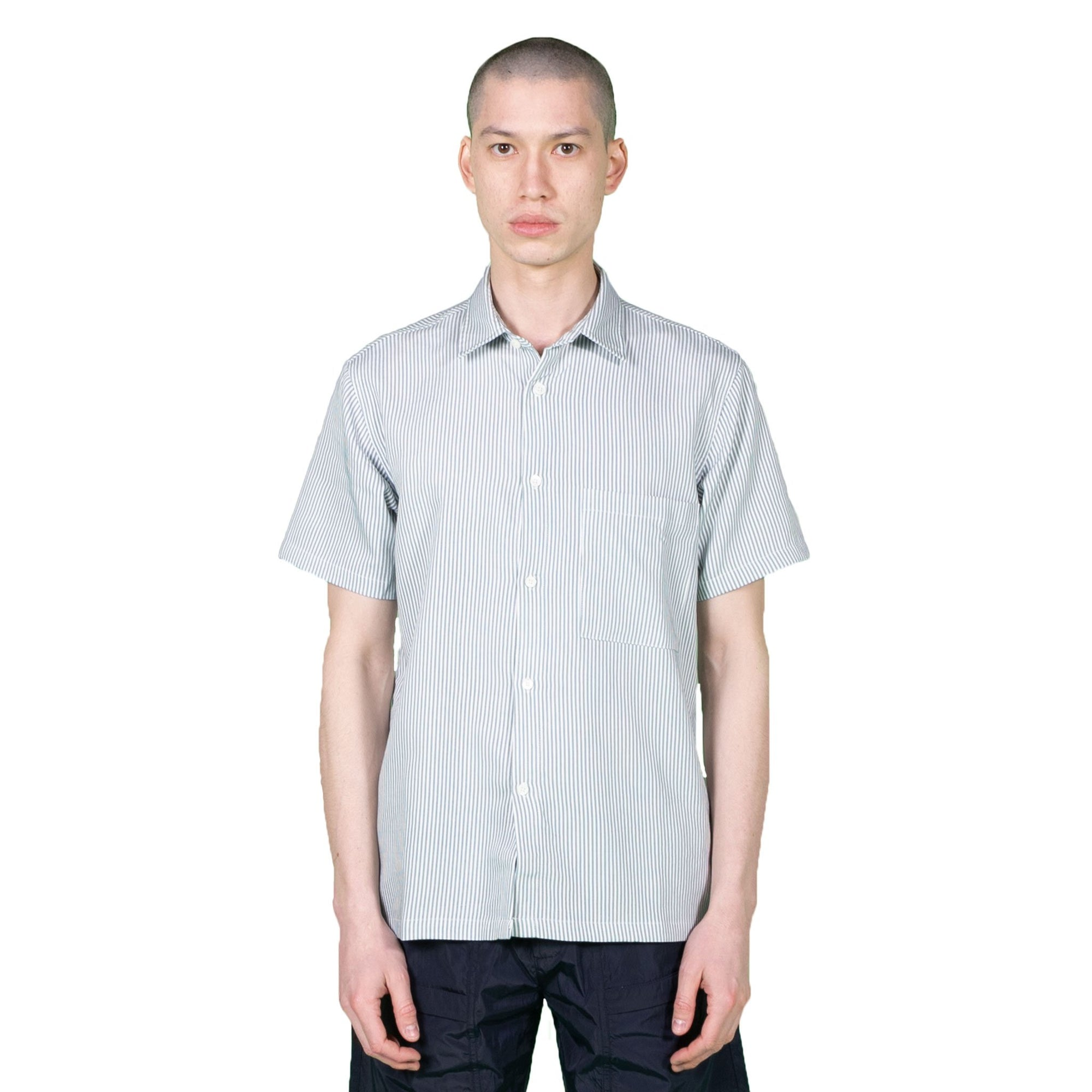 Native North Striped Bureau Shirt in Blue
