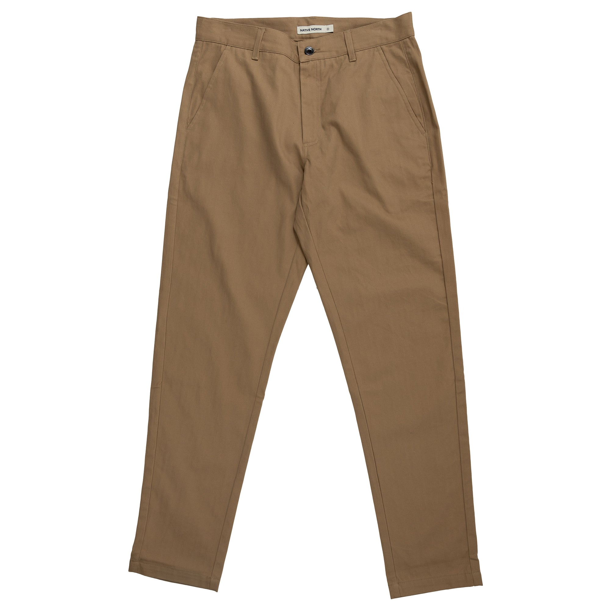 Native North Herringbone Bassa Pants Bottoms Khaki Front