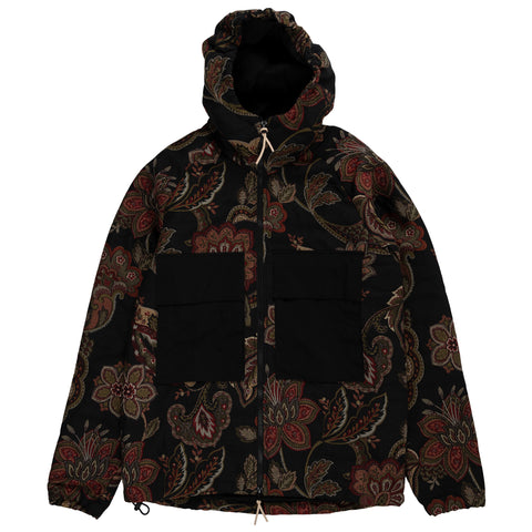 Native North Orchid Jacquard Hood Jacket Outerwear Hoodie Navy Floral Front