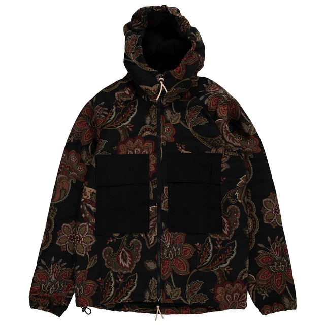 Orchid Jacquard Hood Jacket - Navy Floral