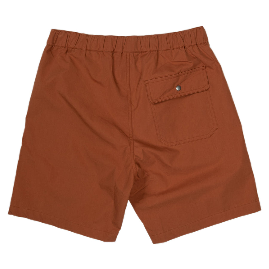 native north paper shorts bottoms rust back