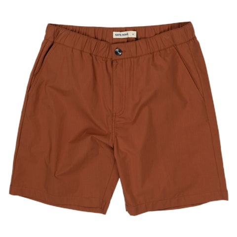 native north paper shorts rust