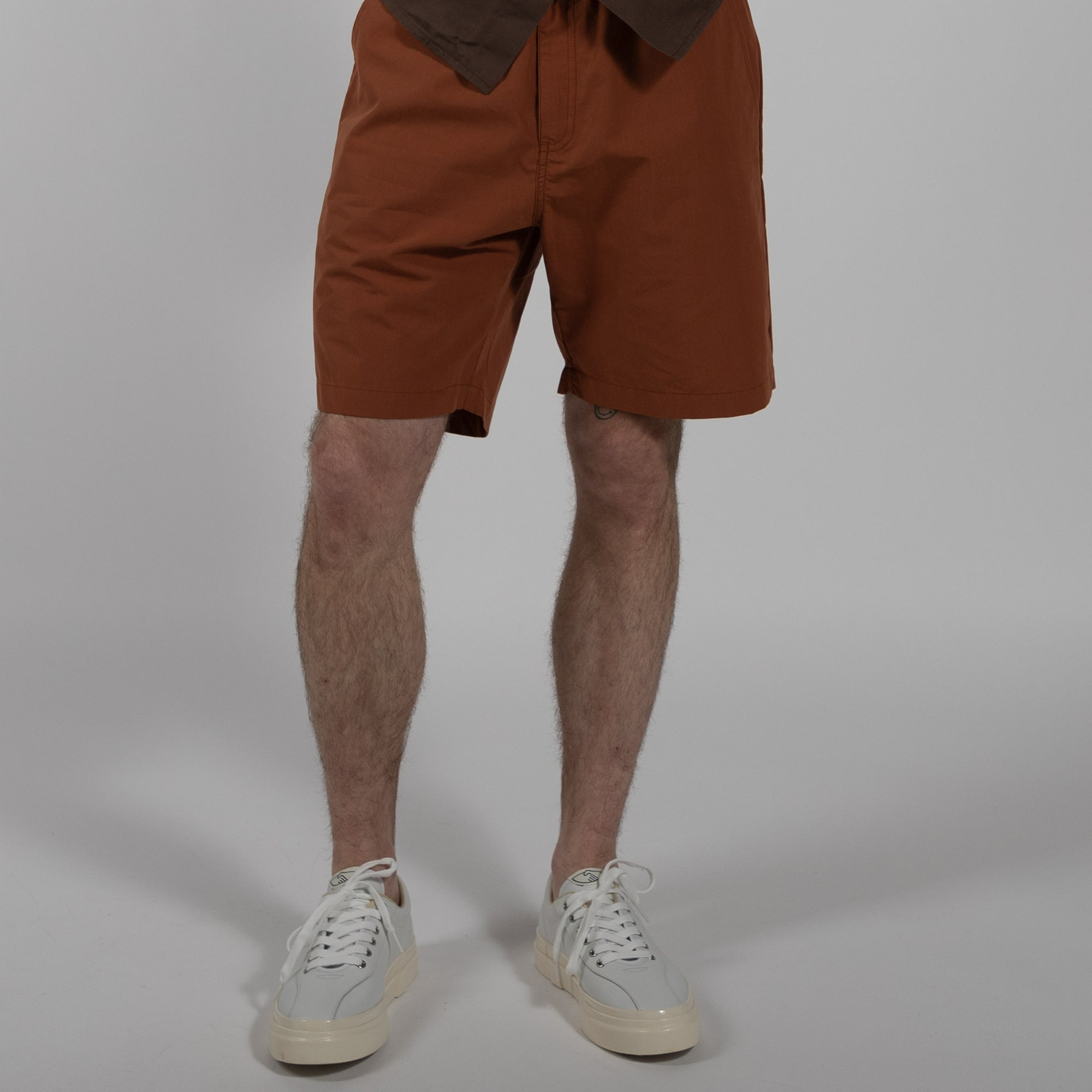 native north paper shorts bottoms rust front