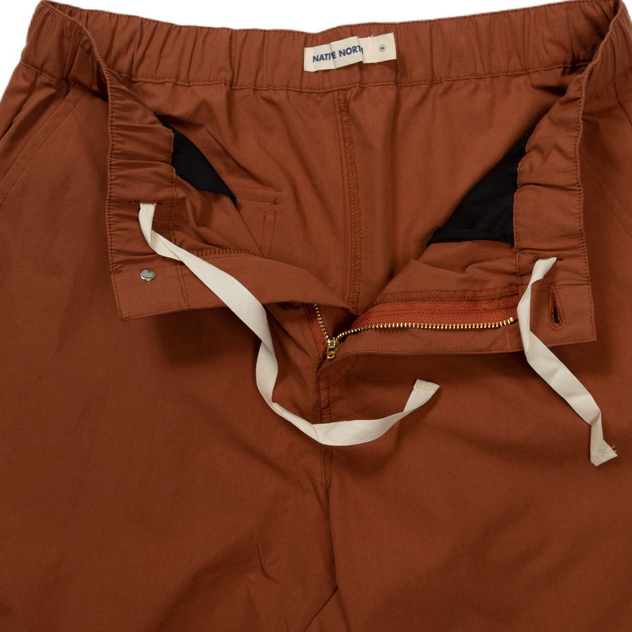 native north paper shorts bottoms rust detail